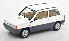 Blauwe Fiat Panda 45 MK 1 1980 Wit 1-18 KK Scale Limited 750 Pieces