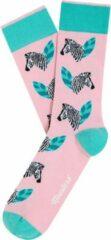 Roze Moustard London sokken Zeebra 36/40