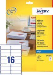 Avery J8162-10 adresetiketten ft 99,1 x 33,9 mm (b x h), 160 etiketten, wit