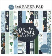Carta Bella Winter Market 6x6 Inch Paper Pad (CBWM126023)