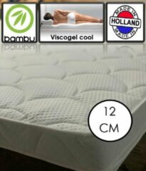 Witte OmRa bedding scandic Bamboo Coolgel - Viscogel Topper - 12cm dik - 140x200 cm