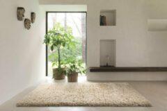 Witte OSTA Rhapsody – Vloerkleed – Tapijt – geweven – wol – eco – duurzaam - hoogpolig - modern - Beige – 200x290