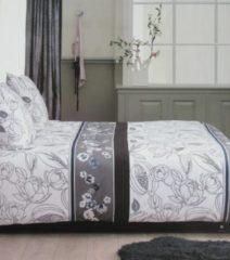 Grijze Beddinghouse Crawley Dekbedovertrek - Tweepersoons - 200x200/220 cm - Grey