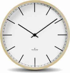 Beige Huygens - Wood 25 Index - Wit - Wandklok - Stil - Quartz uurwerk