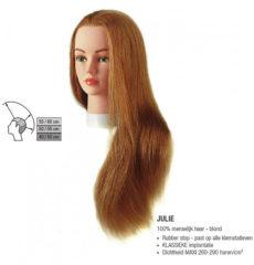 Huidskleurige Sibel - Julie Blond Oefenhoofd - Natuurhaar - 40-60 cm