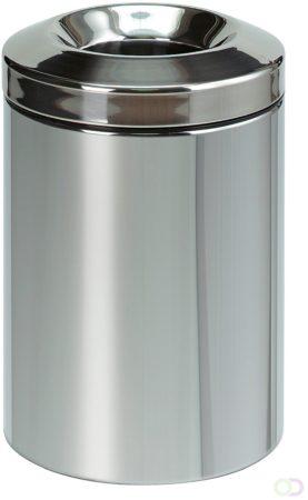 Afbeelding van Brabantia Prullenbak 15 liter met vlamdover, RWTÜV certificaat, Brilliant Steel