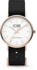 CO88 Collection Watches 8CW 10022 Horloge - Nato Band - Ø 36 mm - Zwart