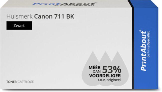 Afbeelding van PrintAbout - Alternatief voor de Canon 711 BK / zwart