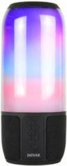 Zwarte Denver BTL-324 / Bluetooth speaker met lichteffecten / MicroSD input en oplaadbare batterij