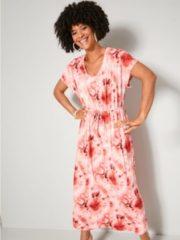 Koraalrode Maxi-jurk Angel of Style Pink::Vanille::Koraal