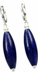 Blauwe Bela Donaco Oorbellen Blue Jeans – Lapis Lazuli – Sterling Zilver