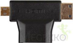 LegaMaster HDMI TYPE A VROUWELIJK NAAR MINI HDMI TYPE C MANNELIJK EN MICRO HDMI TYPE D MANNELIJK