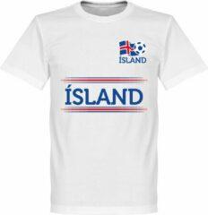 Witte Retake Ijsland Team T-Shirt - M