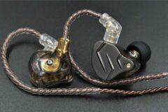 Grijze FIIO Kz Zsn Pro In Ear Headphone Hybride Technologie 1BA + 1DD Hifi Bass Metalen Oordopjes Sport Headset Monitor