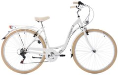 KS Cycling FAHRRAD CASINO 28 ZOLL MIT 6 GANG-KETTENSCHALTUNG Citybike Damen weiß