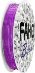 Fako Bijoux® - Elastisch Nylon Draad - Sieraden Maken - 0.6mm - 9 Meter - Paars