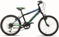 Montana Bike 20 ZOLL MONTANA ESCAPE JUNGEN MOUNTAINBIKE STARRGABEL 6 GANG Kinder schwarz-grün