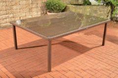 CLP Polyrattan XXL Tisch PIZZO, aus bis zu 4 Rattan-Farben, Größe: 210 x 150 cm, Höhe: 75 cm, für 10 Personen
