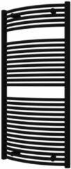 Plieger Onda designradiator horizontaal gebogen 1196x585mm 804W zwart grafiet (black graphite) 7252485