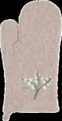 Clayre & Eef Ovenwant SND44 16*30 cm - Beige 100% Katoen Ovenhandschoen Keukenhandschoenen