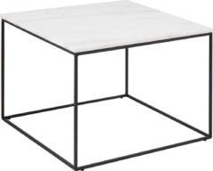 Lisomme salontafel Nina - Marmer - Vierkant - L60 x B60 x H45 cm - Wit