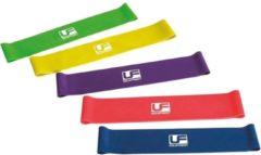 Donkerblauwe Uf equipment UFE Resistance- Weerstandsbanden set, 5 verschillende sterktes