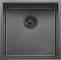 Grijze Mizzo Spoelbak Keuken Gunmetal 40 cm - Spoelbak voor Onderbouw of Vlakbouw