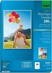 Inkjetfotopapier Sigel A4 - Everyday+ 200grs wit 100 vel