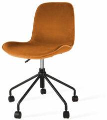 Nolon Nout bureaustoel - Velvet zitting brons oker