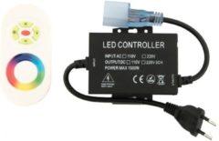 Zwarte Groenovatie LED Neon Flex - RGB Controller - Aansluitstekker - Met Touch Afstandsbediening