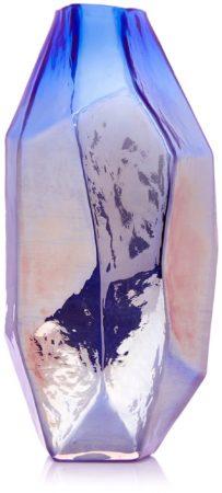 Afbeelding van Blauwe Pols Potten | Vaas gekleurd glas | Graphic luster M | Pols Potten servies
