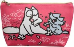 Puckator Toilettas medium Simon's Cat fuchsia / roze
