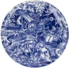 Blauwe ROYAL DELFT Schiffmacher bord Tribute to Jeroen Bosch