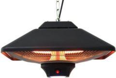 Outsunny Heizstrahler mit Fernbedienung LED Beleuchtung 2000W Heizpilz Terrassenheizung Deckenheizstrahler