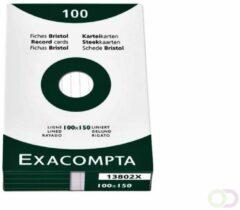 Systeemkaart Exacompta 100x150mm lijn wit