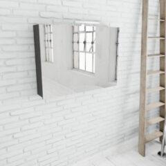 Zaro Beam antraciet spiegelkast 100x70x16cm 2 deuren