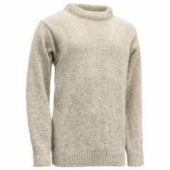 Devold - Nansen Sweater Crew Neck - Wollen trui maat XS, grijs/wit
