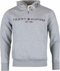 Tommy Hilfiger Tommy Logo Hoody Sporttrui - Maat S - Mannen - grijs