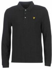 Zwarte Polo Shirt Lange Mouw Lyle Scott LP400VB-574
