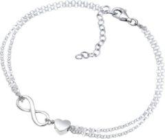 Elli Armbanden Hartje Oneindigheidsteken 925 Sterling Zilver