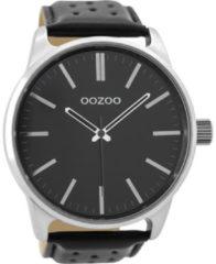 OOZOO Timepieces Horloge Geperforeerd Zwart | C9424