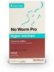 No Worm Tabletten No worm Pro Hond - Wormenmiddel - 4stuks