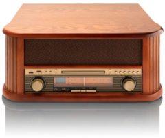 Classic Phono TCD-2500 - Platenspeler met Radio en Cd speler - Hout