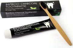 "DUO LuxSmile Houtskool tandpasta voor witte tanden / Teeth Whitening Charcoal + ""2X Gratis Bamboo tandenborstel"" | Bright Up!"