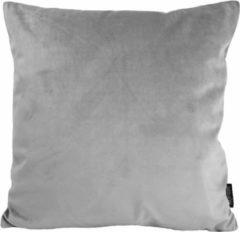 Gek op Kussens! Velvet Silver Grey Kussenhoes | Fluweel - Polyester | 45 x 45 cm | Zilvergrijs