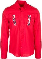 Rosso Versace Jeans Camicia uomo maniche lunghe