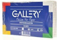 Gallery witte systeemkaarten formaat 75 x 125 cm geruit 5 mm pak van 100 stuks