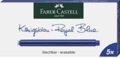 Inktpatronen Faber Castell doosje a 5 stuks extra lang blauw