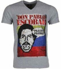 Grijze T-shirt Korte Mouw Mascherano T-shirt - Don Pablo Escobar