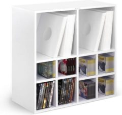 Zomo LP vinyl kast meubel multifunctioneel uit te breiden voor opslag Vinyl + CD + DVD (wit)